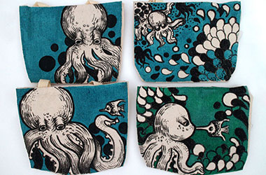 Wermdogg - Octo Mini Pouches by Singapore female artist Xinlin