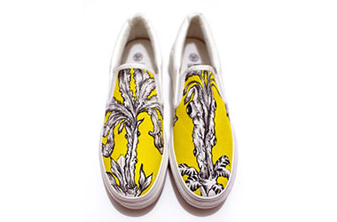 Wermdogg - Plant Bizarro (Shoes) by Singapore female artist Xinlin - Fine art graphic illustration and prints on Singapore high fashion streetwear and fashion culture by artists from New Classical Realism Art Studio and Gallery.