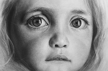 Bright Eyes: PHoto-realistic Portrait Drawing, Singapore art class and art scene