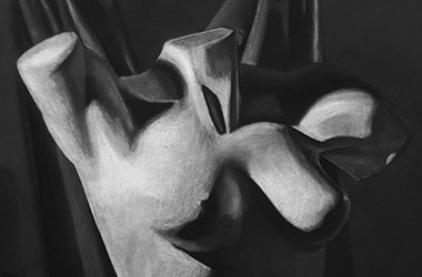 Female Torso with Drapery - Classical realism in Singapore contemporary art scene