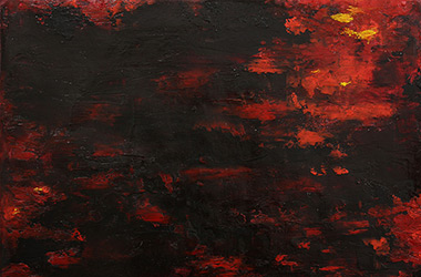 Untitled 1: abstract oil painting, Singapore contemporary art and artist