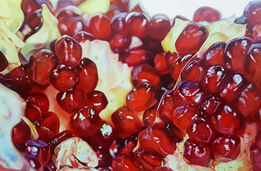 Red Rubies : Hyper-realistic painting by Singapore contemporary artist Alessia