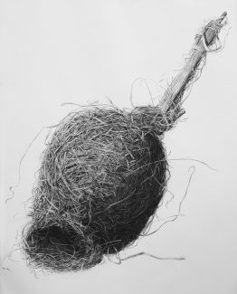 Charcoal on paper, 100 x 70 cm