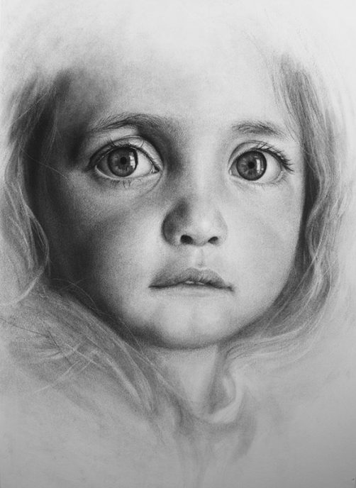 Charcoal on paper, 59.4 x 42 cm