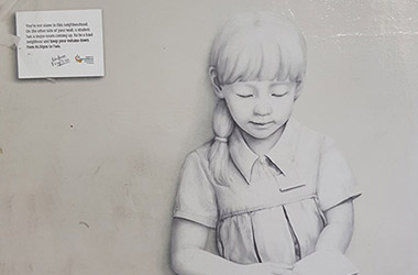 Commissioned portrait drawing for Singapore Kindness Movement, girl portrait