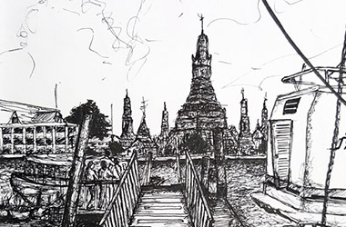 Jetty Overlooking Wat Arun