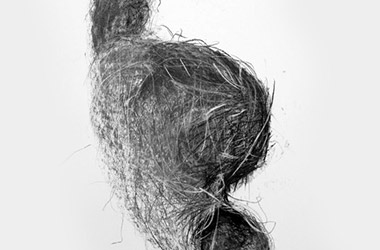 Bird's Nest XV - Nature drawing, realism in charcoal, Singapore art class. Beautiful artwork by Singapore contemporary artist
