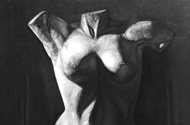 Female Torso with Drapery - Classical realism in Singapore contemporary art scene. Amazing artwork by Singapore contemporary artist