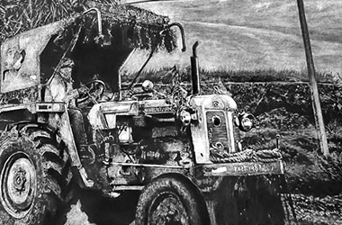 TRACTOR X - photorealism art - Singapore art class. Beautiful artwork by Singapore contemporary artist