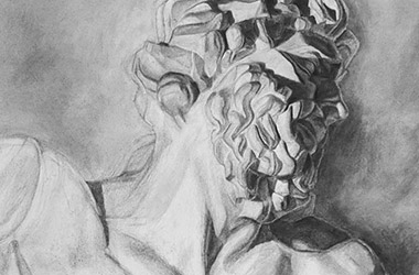 Laocoon - classical realism in Singapore contemporary art - Singapore art class and arts scene. Beautiful artwork by Singapore contemporary artist