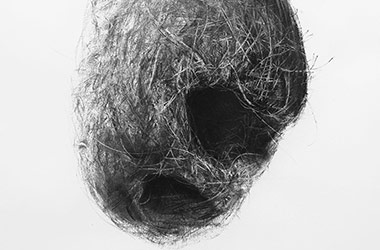 Bird Nest No.8 - Nature drawing, realism in charcoal, Singapore art class and arts scene. Beautiful artwork by Singapore contemporary artist