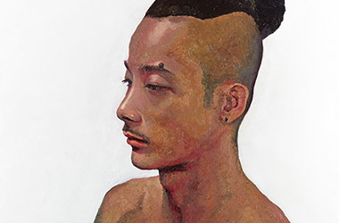 Jimmy: oil painting portrait, Singapore contemporary art and art scene. Artwork by Singapore contemporary artist