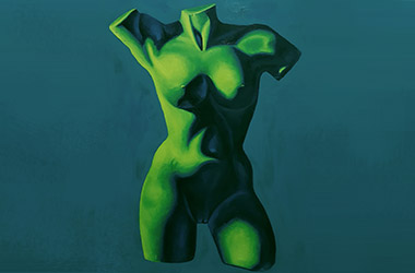 Female Torso by art friends - Classical realism in Singapore contemporary art scene. Artwork by Singapore contemporary artist