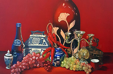 Still Life: Classical realism in Singapore contemporary art and art scene. Artwork by Singapore contemporary artist