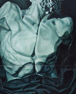 Oil on canvas, 152 x 61 cm