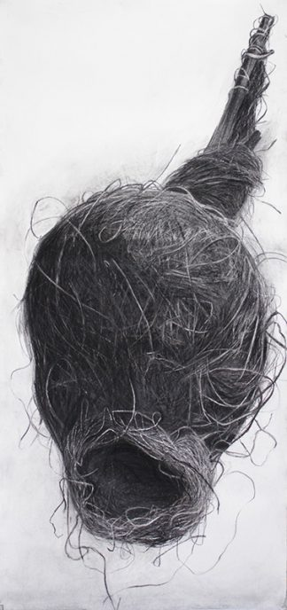 Charcoal on paper, 150 x 70 cm