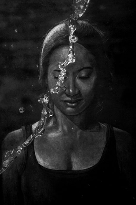 Charcoal on paper, 122 x 91 cm