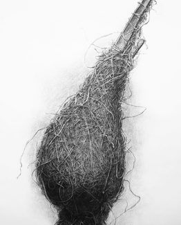 Charcoal on paper, 150 x 107 cm