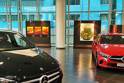 Journey with art - artwork showcase at mercedes-benz center